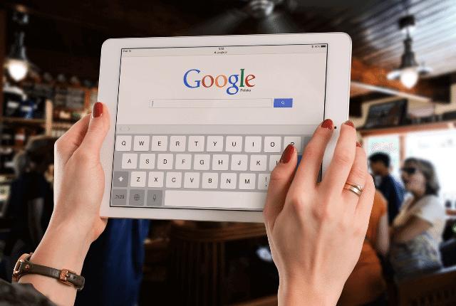 גוגל, תמונה של גוגל בטאבלט