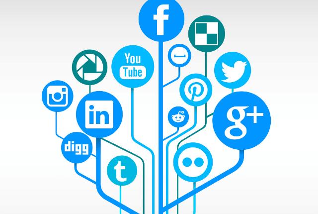 עץ הפרסום, פייסבוק, גוגל, טוויטר, לינקדאין, אינסטגרם, יוטיוב