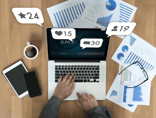 פרסום ב-SMS, עסק, הודעות