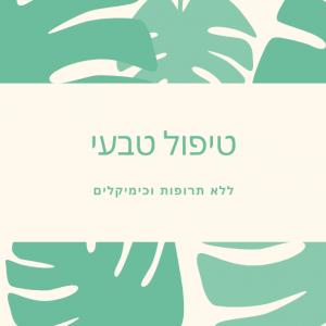 כרטיסי ביקור לטיפולים טבעיים - BIZZT