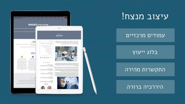 בניית אתר ליועץ עסקי עם שילוב מנצח | BIZZT